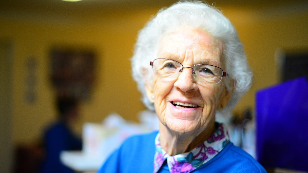elderly woman family caregiver