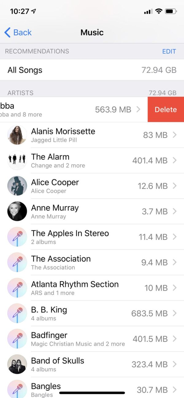iPhone Storage 3